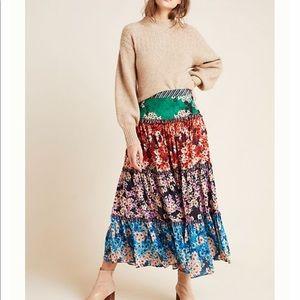 Anarosa Tiered Maxi Skirt